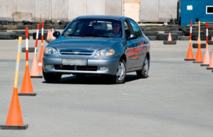 Обучение в автошколе - автодром