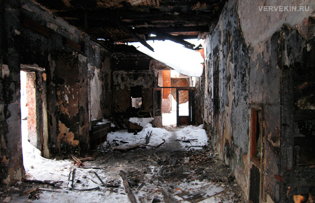 Внутреннее состояние здания бывшего клуба