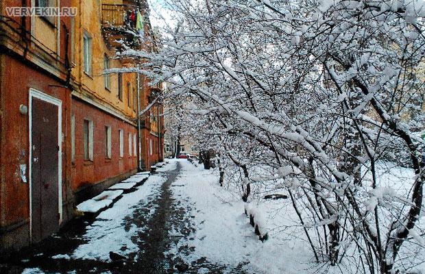 Снегопад в Воронеже - конец марта 2017года