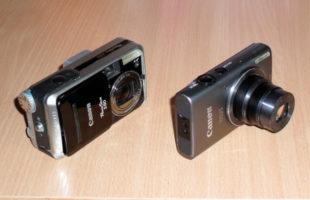 Два фотоаппарата: старый Canon и купленный на Авито