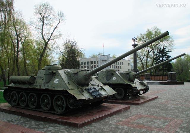 Музей-диорама (Воронеж): самоходно-артиллерийскай установка СУ-100