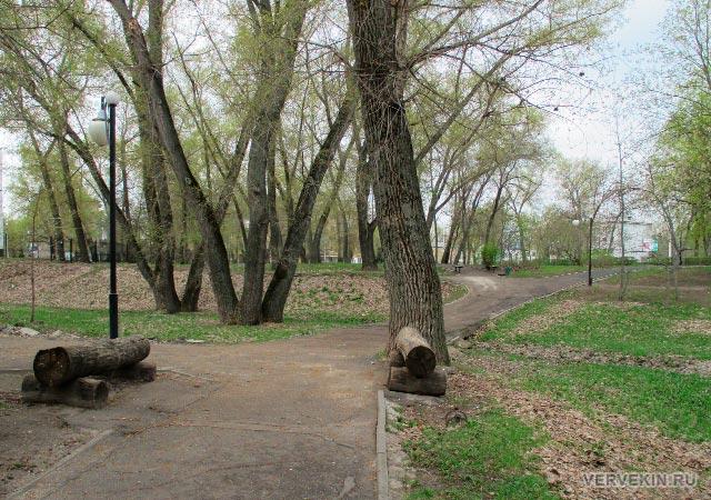 Парк Патриотов: аллея, ведущая к Ленинскому проспекту