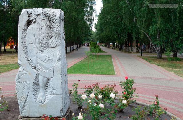 """Парк """"Юбилейный"""" (Россошь): скульптура """"Слово о полку Игореве"""", автор С.Казанцев"""