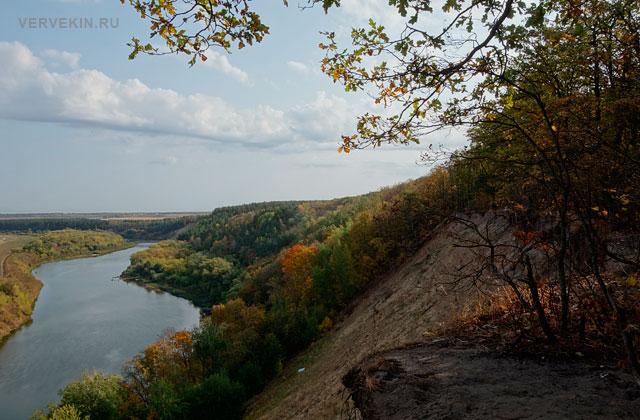 Кривоборье (Воронеж): вид на высокий берег Дона