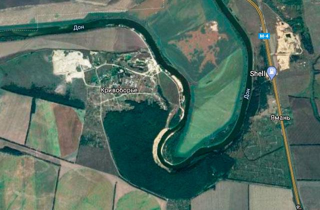 Кривоборье (Воронежская область, Рамонский район): карта
