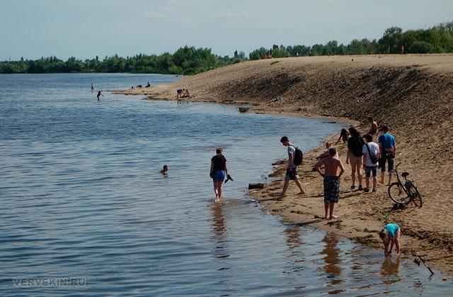 Воронеж: Адмиратейская площадь, намывной песчаный пляж