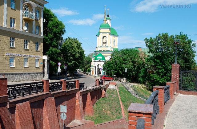 Воронеж: улица Карла Маркса, каменный мост и Вознесенская церковь